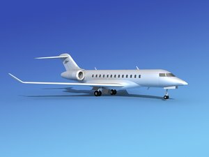 turbines bombardier global express 3d model