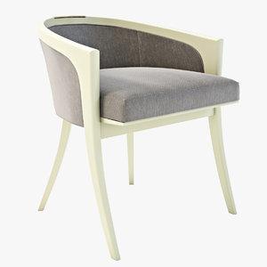 3d model diana vanity chair