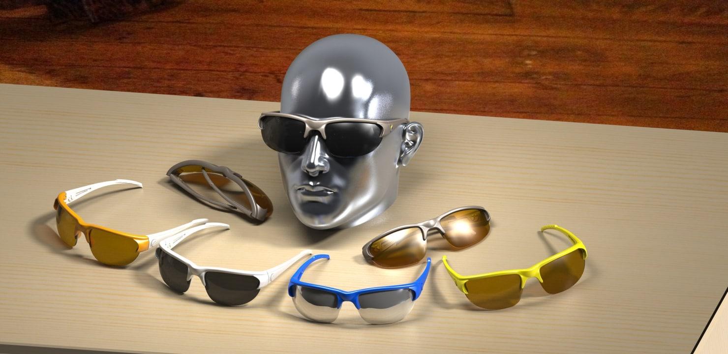 frame lenses printed 3d model
