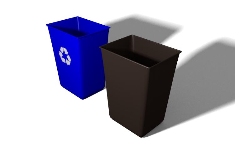 recycling bin trash obj free