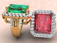 Diamond Ring with Emerald Cut Stone