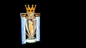 3d model of english trophy premier league