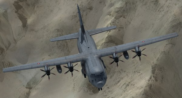 3d model of c130j transport