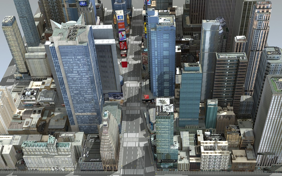 3d new york square time