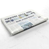 corriere della sera newspaper 3d max