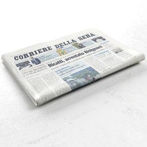 3d corriere della sera newspaper