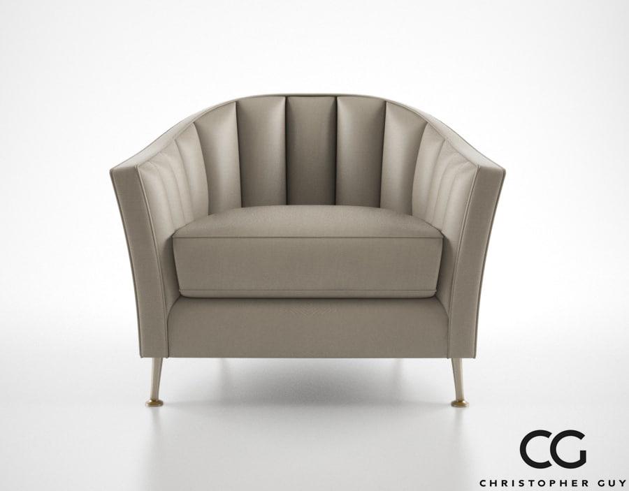 christopher guy alexandrine armchair 3d model