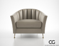 christopher guy alexandrine armchair 3d model