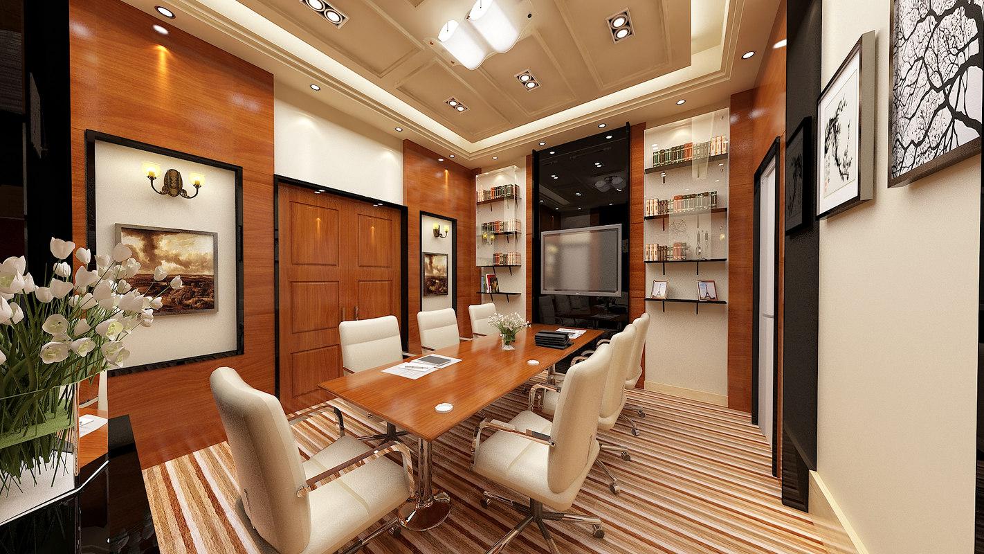 office meeting interior 3d model
