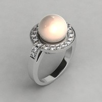 white gold ring 3d x