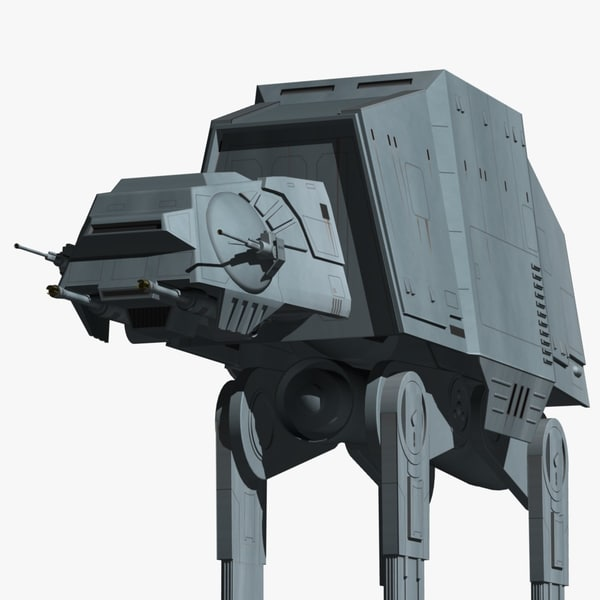 3d model of imperial walkers