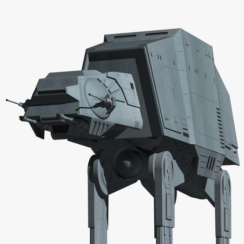 3d model of imperial walkers