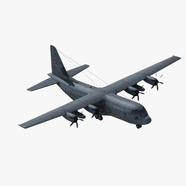 3d c130j hercules transport aircraft