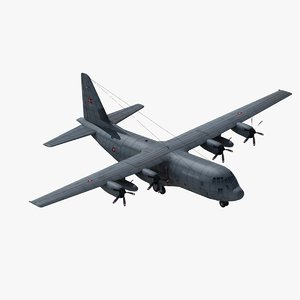 3d c130j hercules transport aircraft