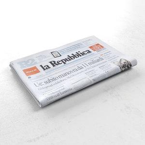 3d 3ds la repubblica newspaper