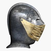 medieval helmet fbx