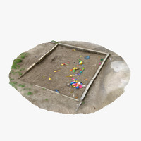 old sandpit - 3d 3ds