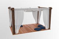 tent beach 3d model