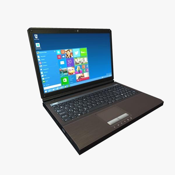 max ready low-poly laptop