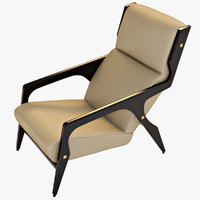 3d model armchair gio ponti
