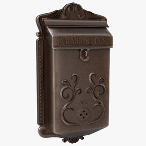 vintage wall mount mailbox 3d model