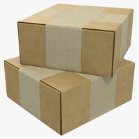 Cardboard Box 4 3D Model