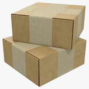 cardboard box 4 3d 3ds