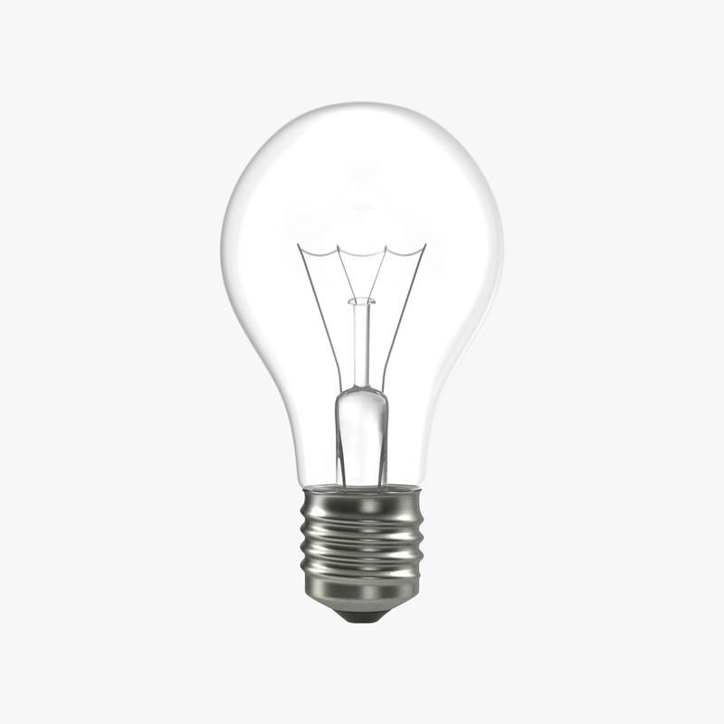 3d Electric Light Bulb