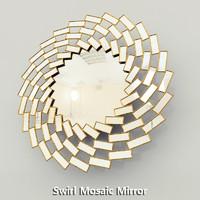 Swirl Mosaic Mirror Horchow