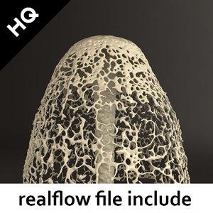 3d model splash realflow flow