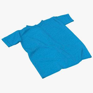 3d flat t-shirt model