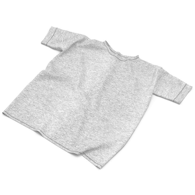 flat t-shirt white 3d max