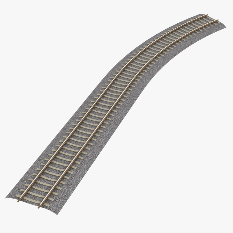 railroad track railway 3d model