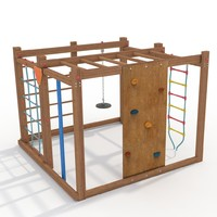 3d playground climbing frame