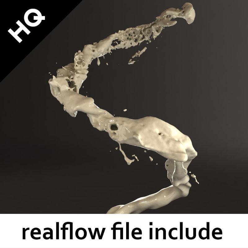 3d splash realflow flow