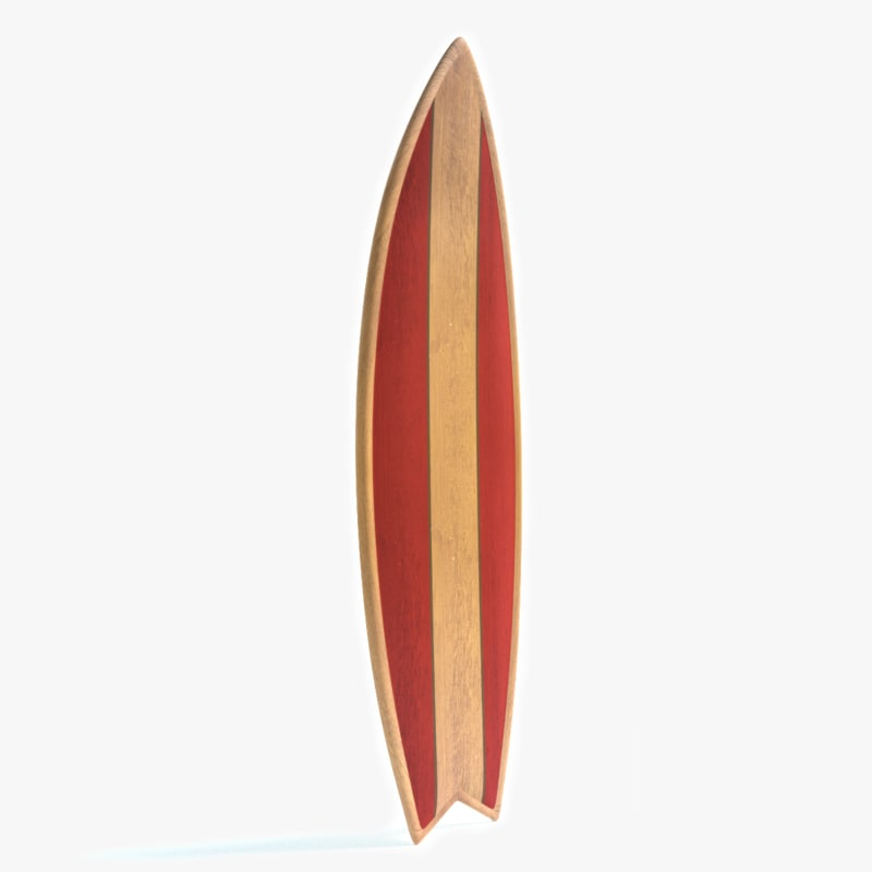 3ds surfboard surf board