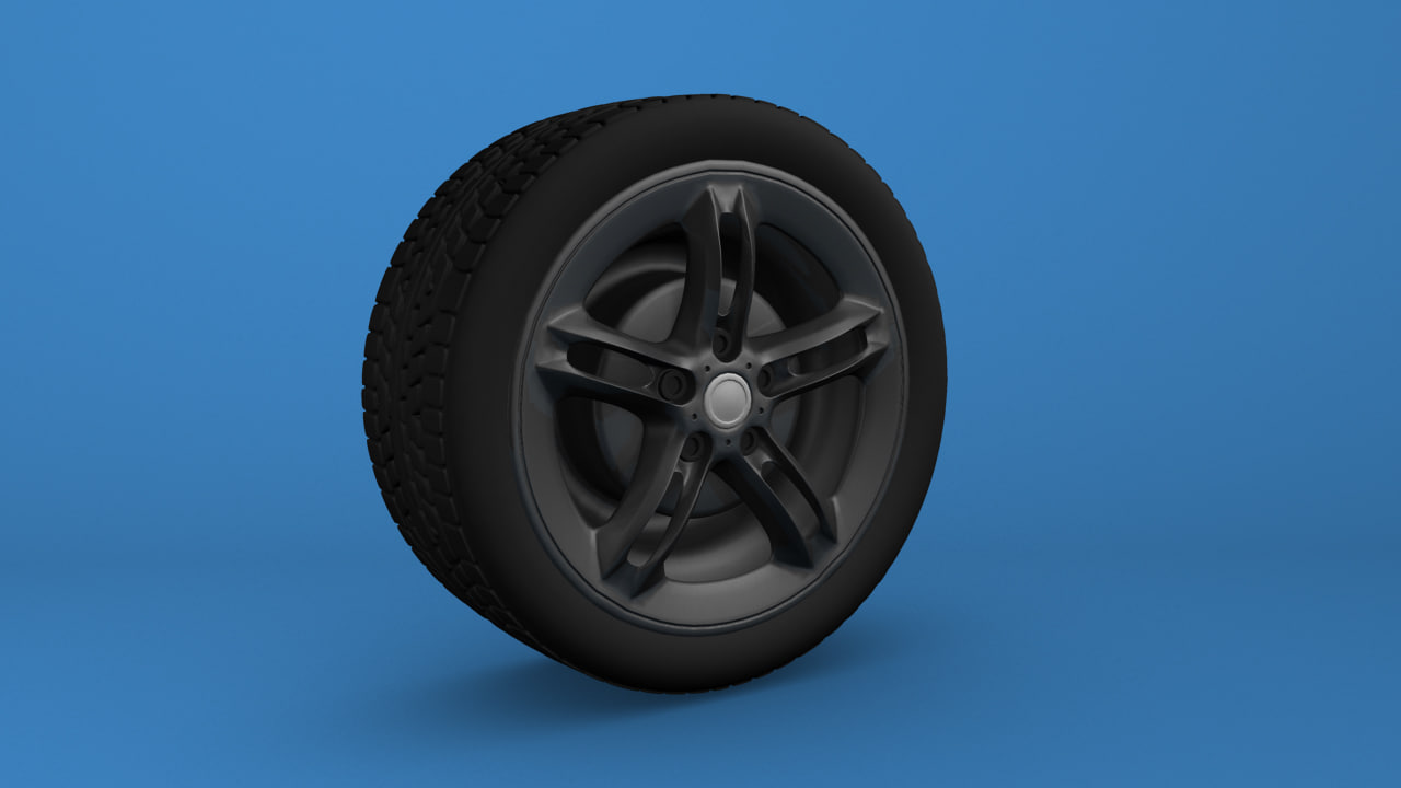 free obj mode car tyre