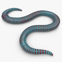 worm blue 3d 3ds