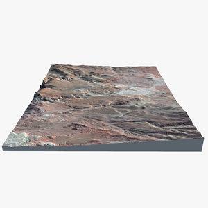3d planet lava flow model