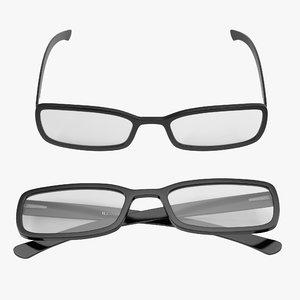 glasses 5 set c4d