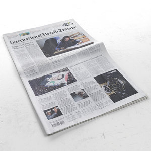 international herald tribune 3d model