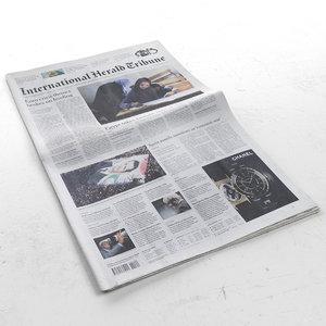 international herald tribune 3d model