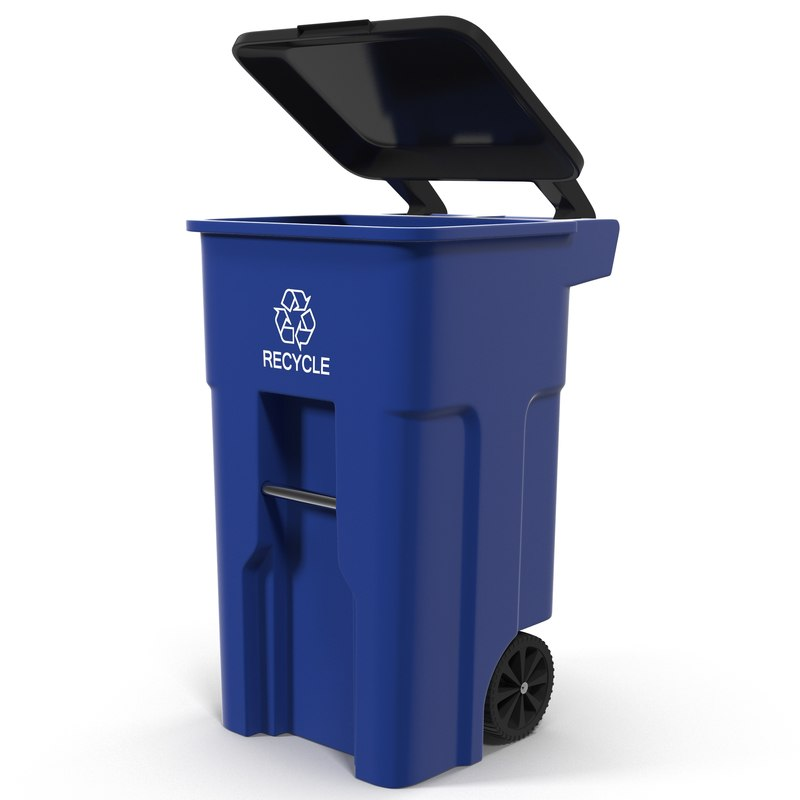 recyling bin 3d max