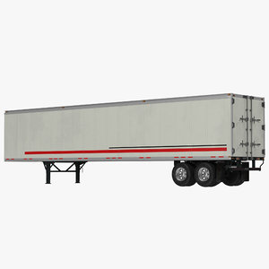 3d model of semi trailer