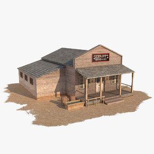 wild west sheriffs house 1 3d model