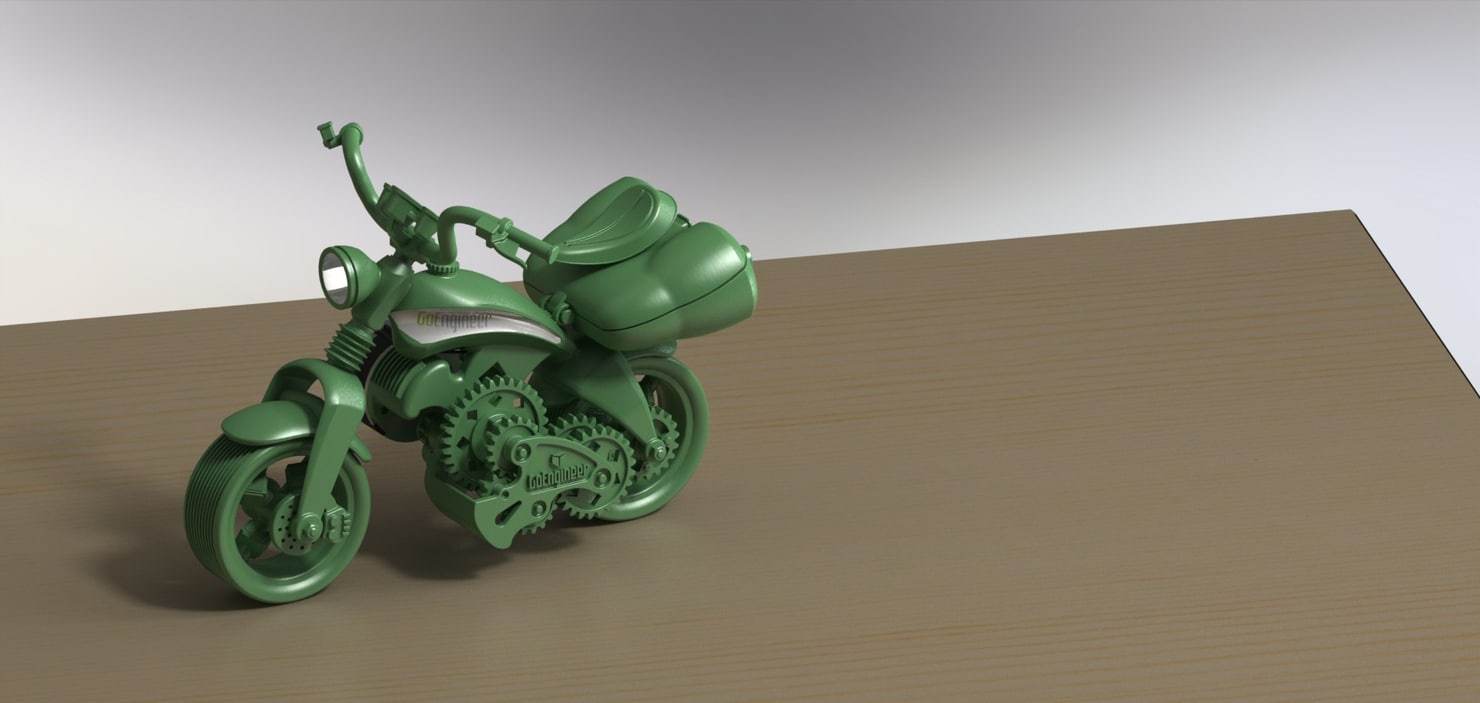 3ds max printable toy motorcycle