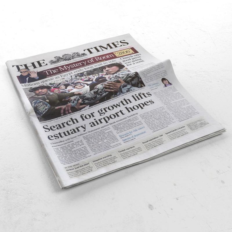 newspaper news 3d 3ds