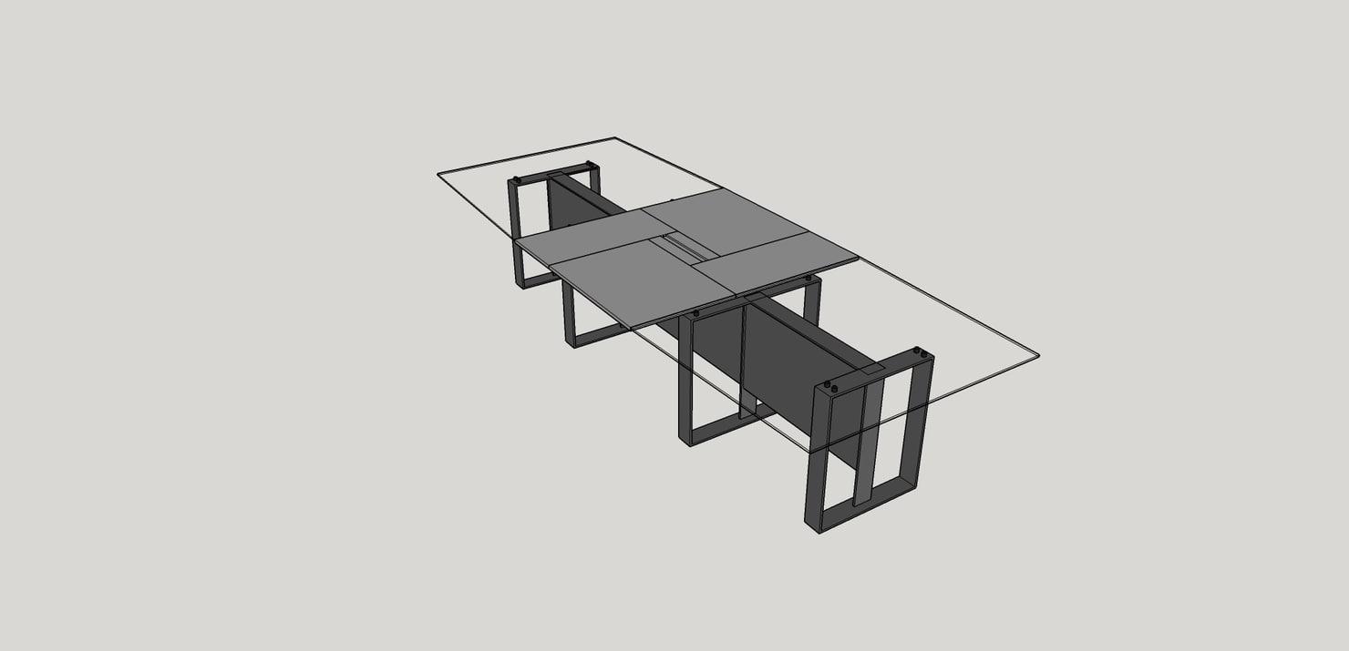 estel altagamma meeting table 3d model