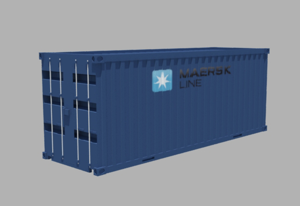 free container cargo 3d model