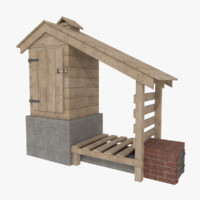smokehouse firewood 3d 3ds
